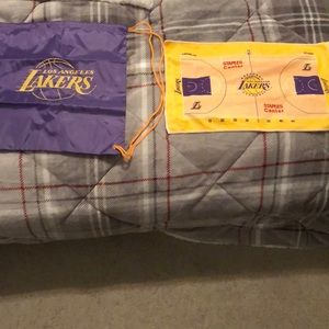 Lakers drawstring backpack and towel
